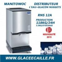 Distributeur glaçons nuggets 115 kg/24h MANITOWOC