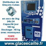 DISTRIBUTEUR MANUEL DE GLACE CUBE EN SACHET