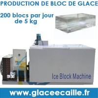 Machine à bloc de glace afrique 200 par jour.