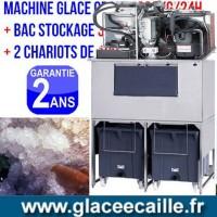 Machine à glace ecaille 600kg avec 2 chariots
