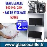Machine à glace écaille 600kg/24h avec stockage 550 kg