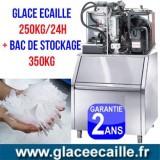 Machine à glace écaille 600kg/24h avec Chariots et stockage 50 kg