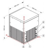 Machine à glaçons cubelet 240 kg/24h