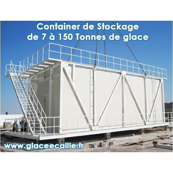 CONTAINER DE STOCKAGE 5T POUR MACHINE A GLACE