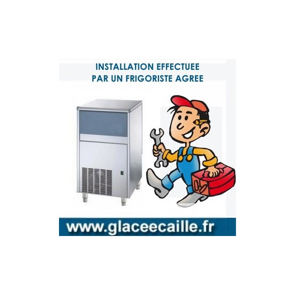 INSTALLATION MACHINE GLACE ECAILLE