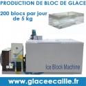 Machine à bloc de glace afrique 10T par jour.