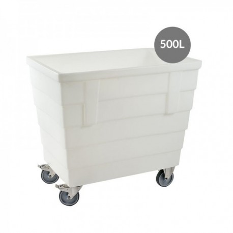 CHARIOT ALIMENTAIRE 500L ROUES INOX