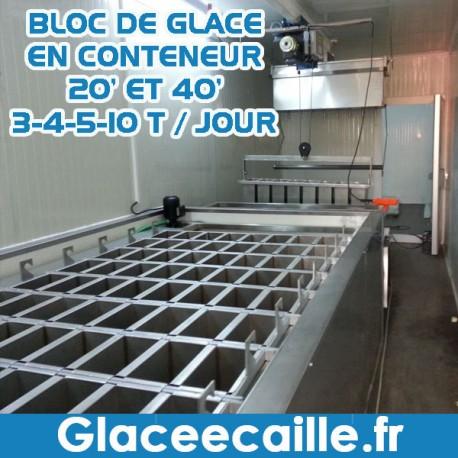 Machine à bloc de glace afrique conteneurisé