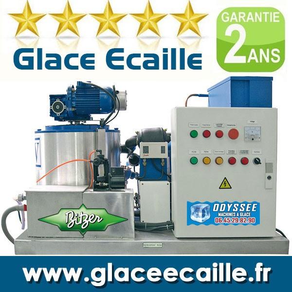 Glace écaille paillette 3T pour poissonnier pèche et aquaculture - 3000 kilos par 24h