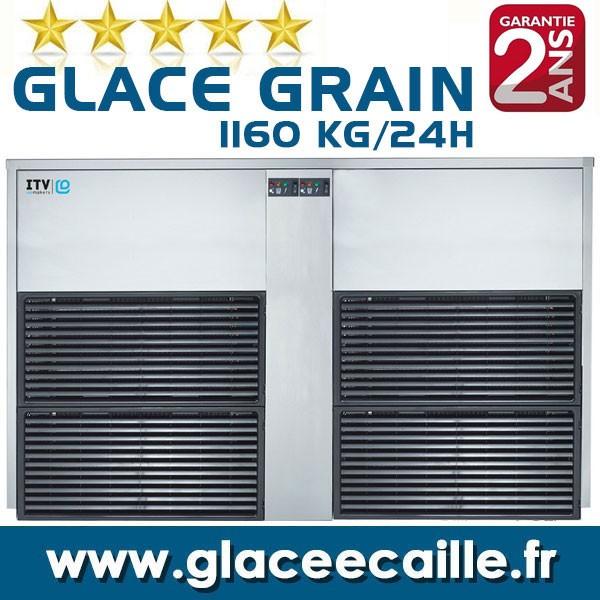 Machine a glace grain Pilée 1100 kg par 24h ITV