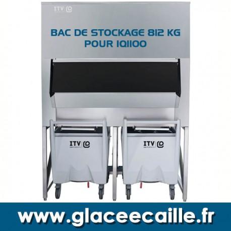 BAC DE STOCKAGE GLACE 812 KG AVEC 2 CHARIOTS ITV