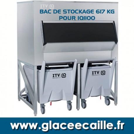 BAC DE STOCKAGE GLACE 617 kg AVEC 2 CHARIOTS ITV
