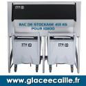 BAC DE STOCKAGE GLACE 413 KG AVEC 2 CHARIOTS ITV