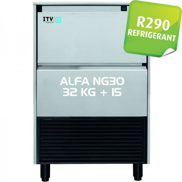 MACHINE A GLACON ITV 30 KG R290 AVEC STOCKAGE