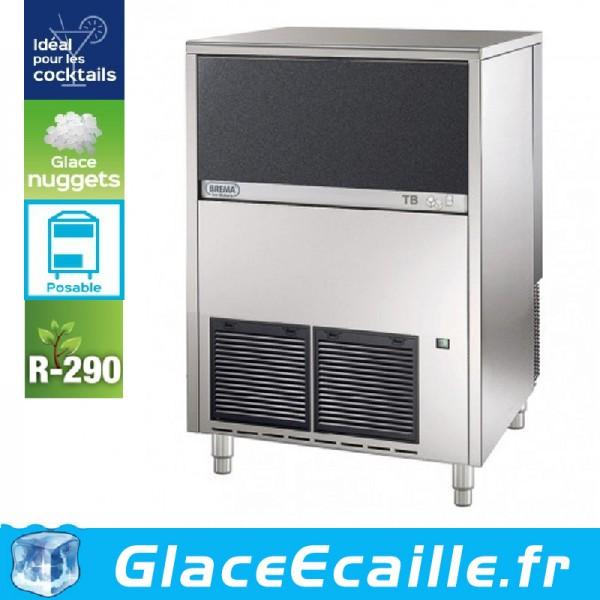 MACHINE A GLACE NUGGETS COCKTAIL BREMA 148 KG/24H, RÉSERVE 40KG, CONDENSEUR AIR