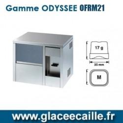 Machines à glaçons ronds 21kg/24h avec distributeur d'eau refroidie