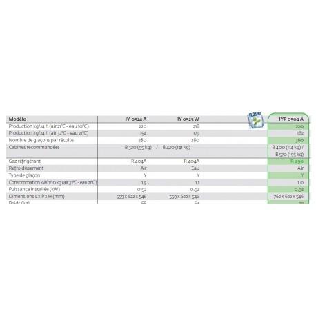 MACHINE GLACON CUBE 205 KG/24H MANITOWOC