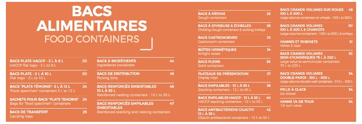 BACS ALIMENTAIRE